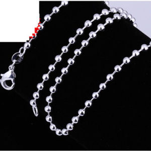 "Jewelry - 28""  Italian Sterling Silver Bead Ball Chain"
